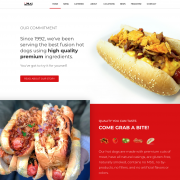 Umai Hot Dogs Website